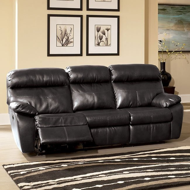 Sander Durablend - Charcoal Reclining Sofa w/ Power