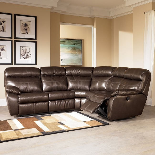 Sander Durablend - Coffee Reclining Sectional
