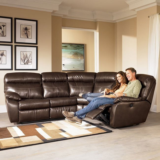 Sander Durablend - Coffee Power Reclining Sectional
