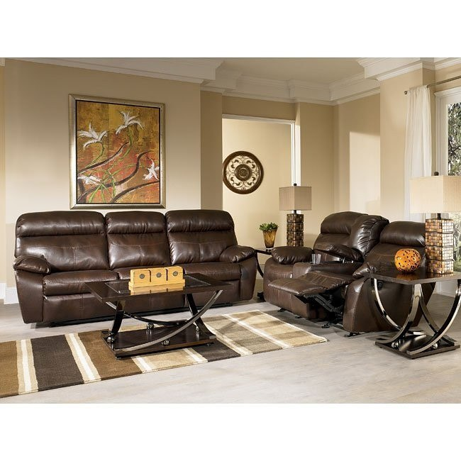Sander Durablend - Coffee Reclining Living Room Set