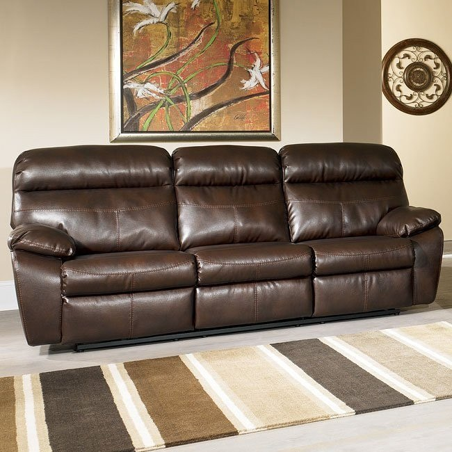 Sander Durablend - Coffee Reclining Sofa w/ Power