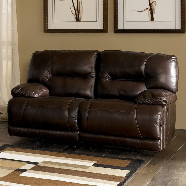 Bromley - Brown Reclining Loveseat w/ Power