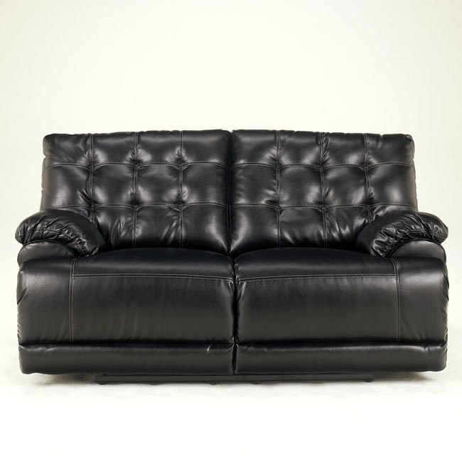 Homerun DuraBlend - Black Reclining Loveseat