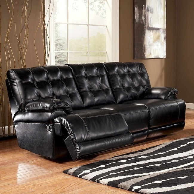 Homerun DuraBlend - Black Reclining Sofa w/ Power