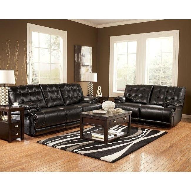 Homerun DuraBlend - Black Reclining Living Room Set