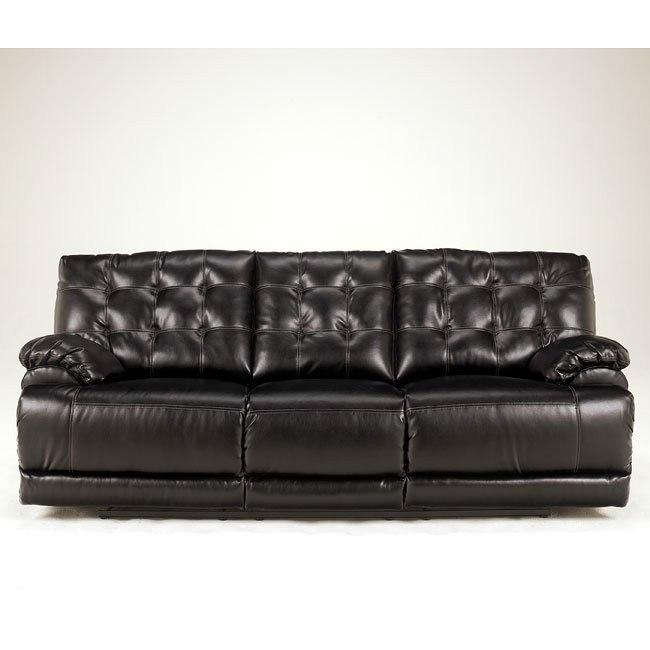 Homerun DuraBlend - Black Reclining Sofa