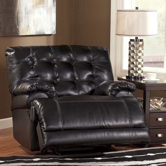 Homerun DuraBlend - Black Rocker Recliner w/ Power