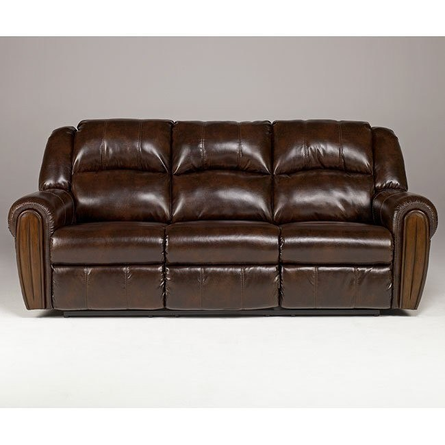 Woodsdale DuraBlend - Antique Reclining Sofa