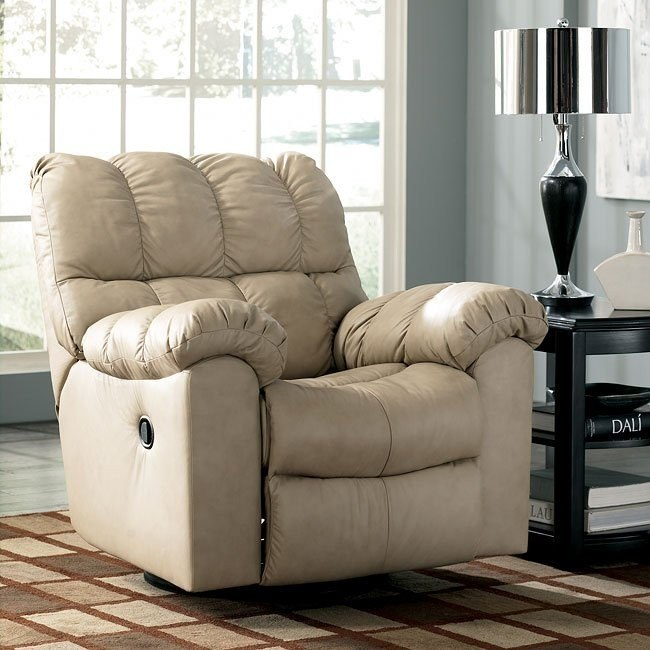 Max - Chamois Swivel Rocker Recliner