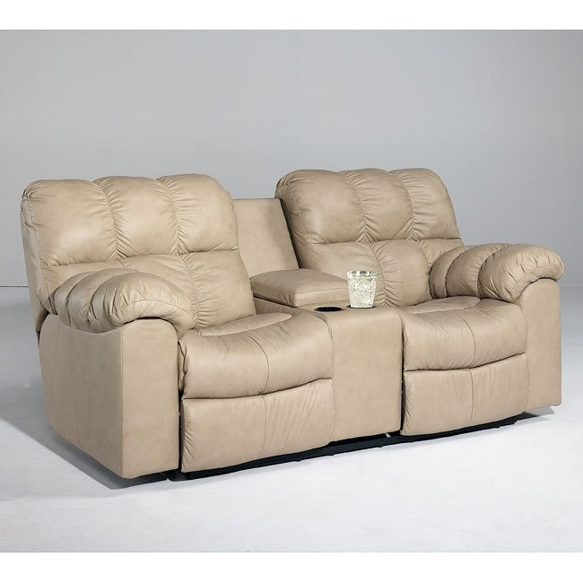 Max - Chamois Double Reclining Loveseat w/ Console