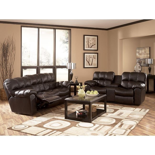 Max - Chocolate Reclining Living Room Set