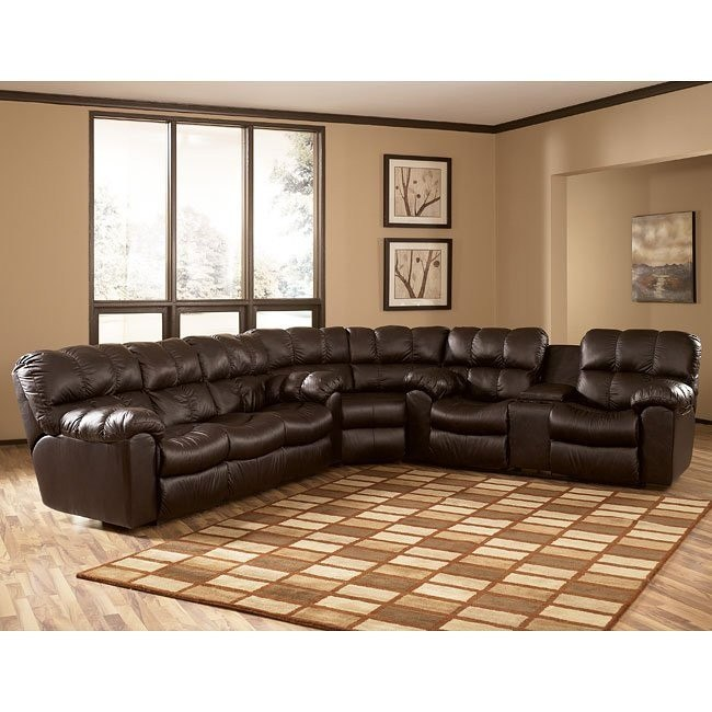 Max - Chocolate Reclining Sectional