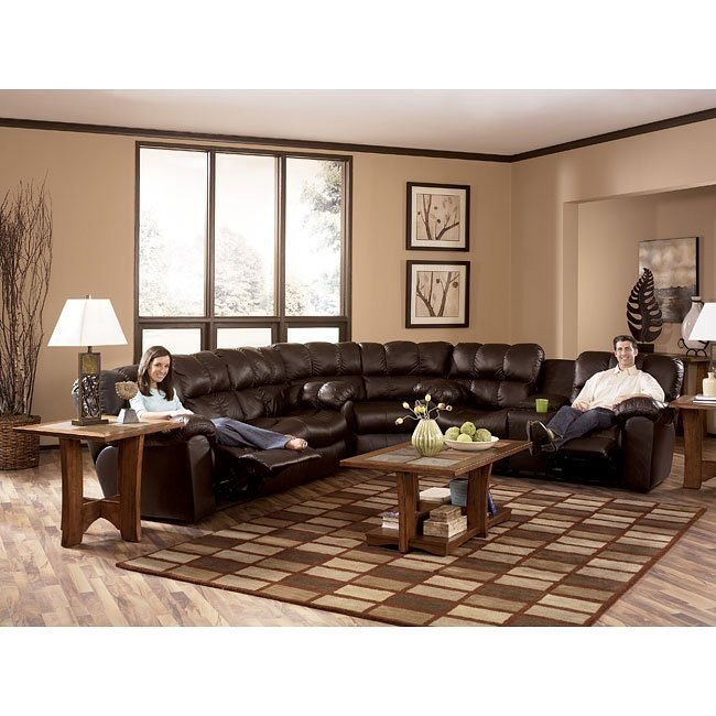 Max - Chocolate Reclining Sectional Living Room Set