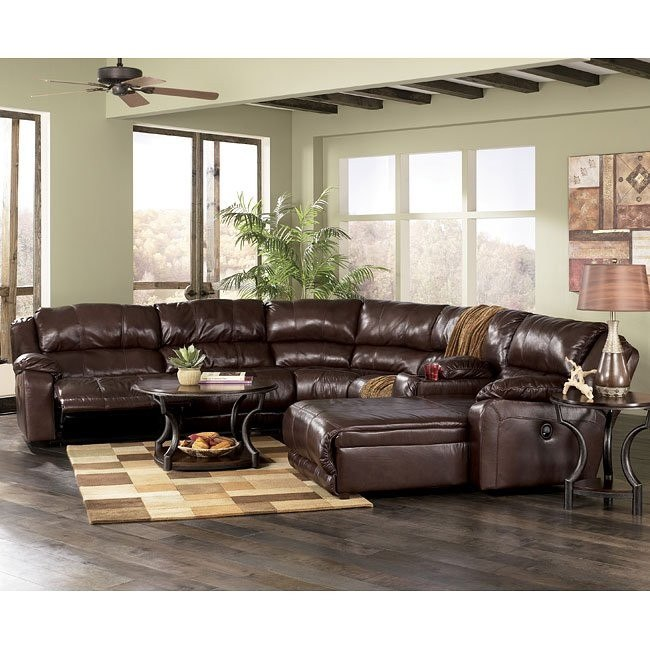 Braxton - Java 6-Piece Sectional Living Room Set