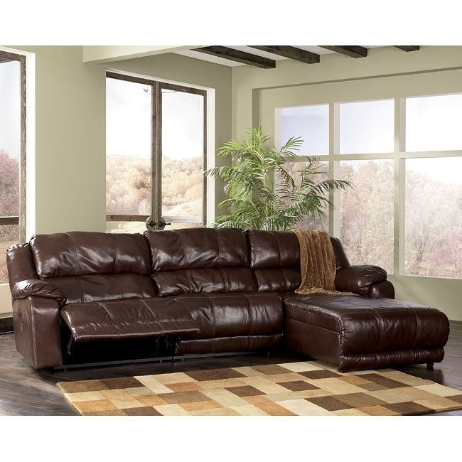 Braxton - Java Right Facing Chaise 3-Piece Sectional