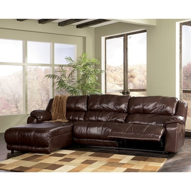 Braxton - Java Left Facing Chaise 3-Piece Sectional