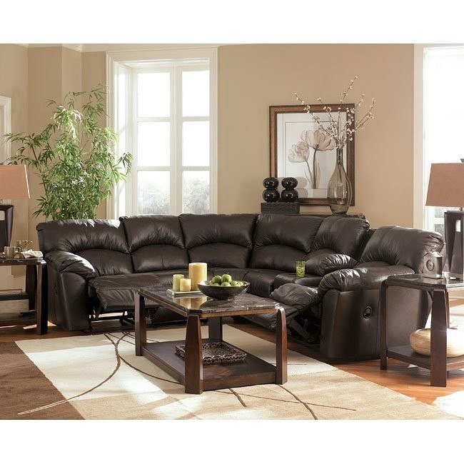Kellum - Chocolate Reclining Sectional Living Room Set