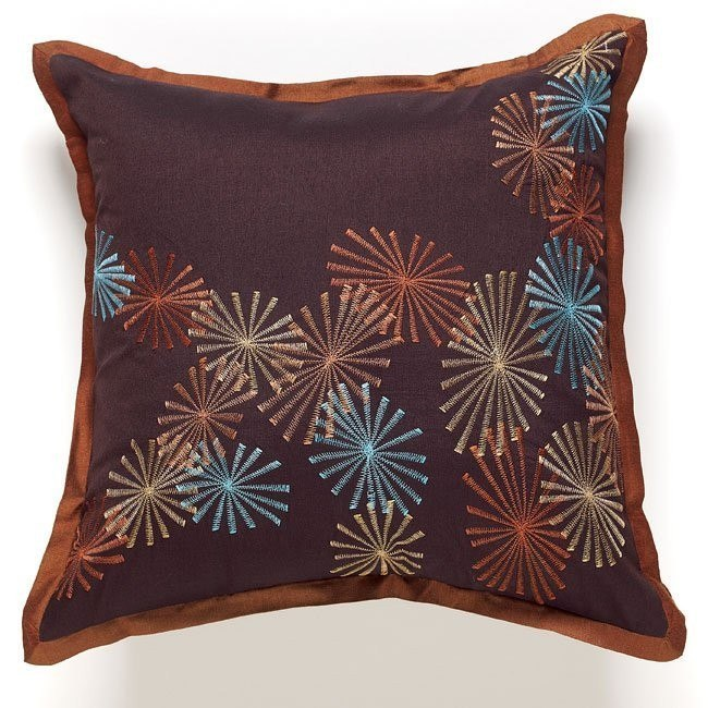 Sunburst - Chocolate Accent Pillows (Set of 6)