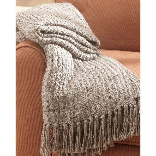 Caitlyn - Taupe Decorative Throw (Set of 3)
