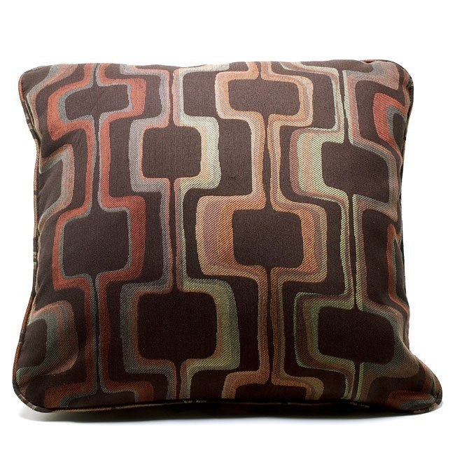 Techno - Chocolate Decorative Pillow (Set of 6)