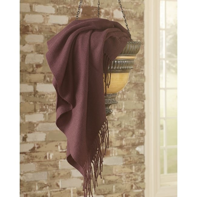 Ashton - Eggplant Decorative Throw (Set of 3)