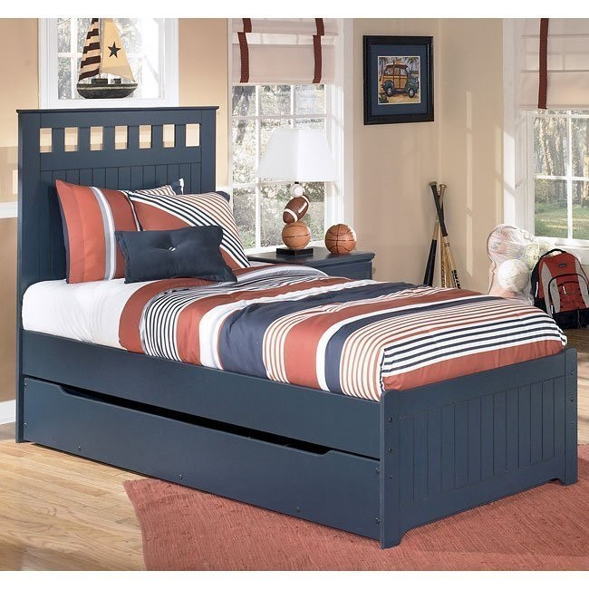 Leo Panel Bed w/ Trundle
