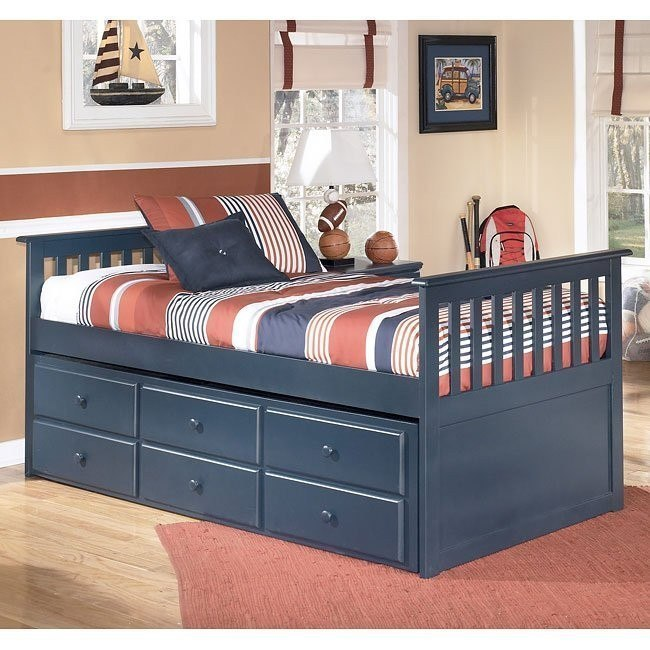 Leo Trundle Storage Bed (Twin)
