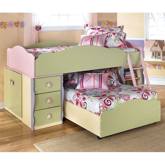 Doll House Twin over Twin Loft Bed