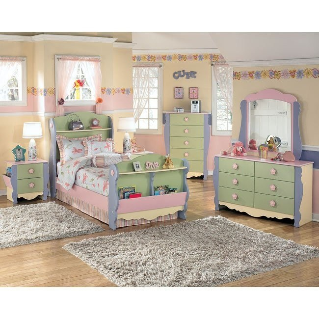 Doll House Sleigh Bedroom Set By Signature Design By