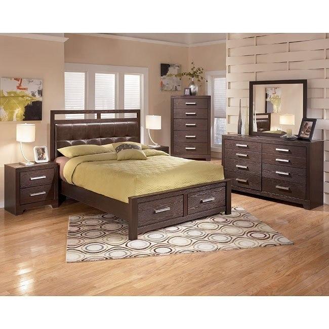 Aleydis Rail-Top Storage Bedroom Set