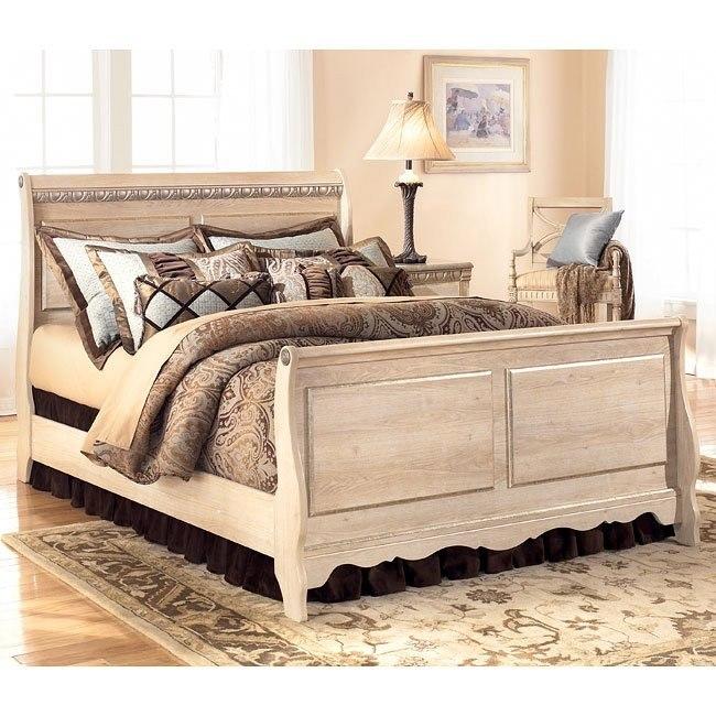 Silverglade Sleigh Bed (Queen)