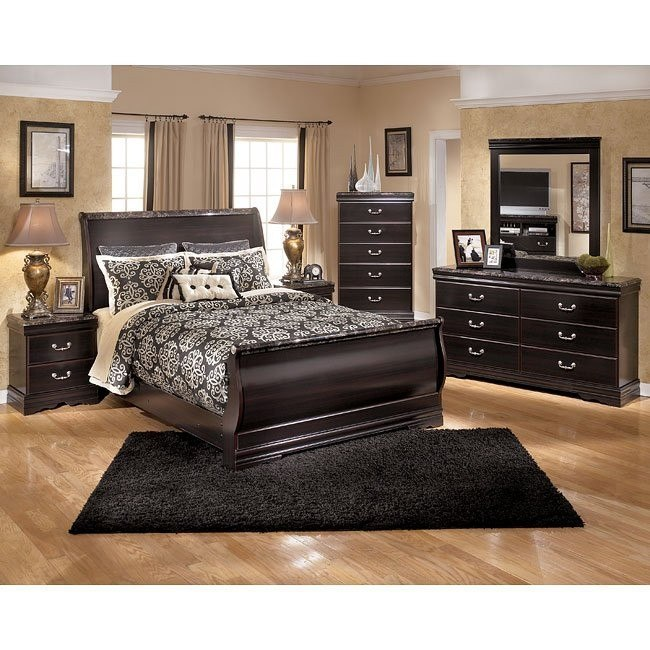 Esmarelda Sleigh Bedroom Set
