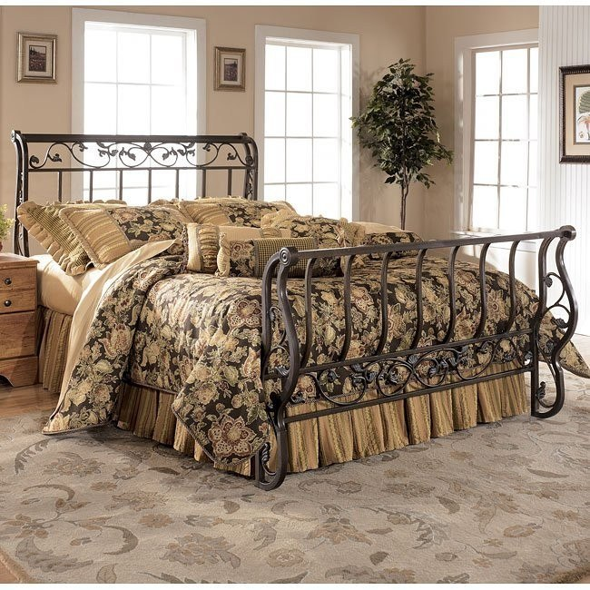 Bittersweet Metal Sleigh Bed (Queen)
