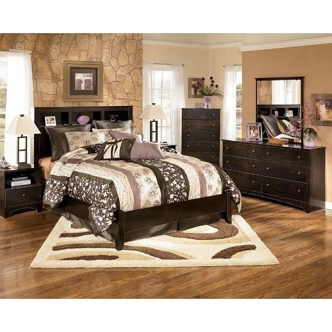 Kendi Bookcase Bedroom Set