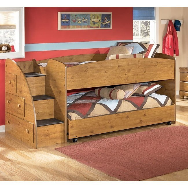 Stages Twin/ Twin Loft Bed w/ Left Steps