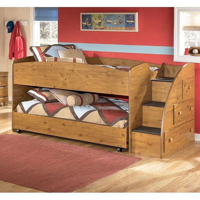 Stages Twin/ Twin Loft Bed w/ Right Steps