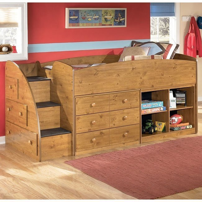 Stages Storage Loft Bed w/ Left Steps
