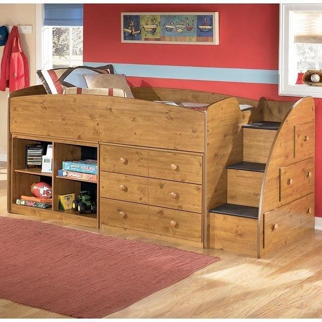 Stages Storage Loft Bed W Right Steps Signature Design By Ashley Furniture Furniturepick