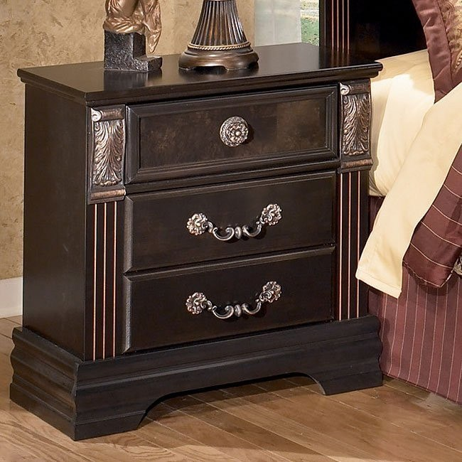 Suzannah Three Drawer Night Stand