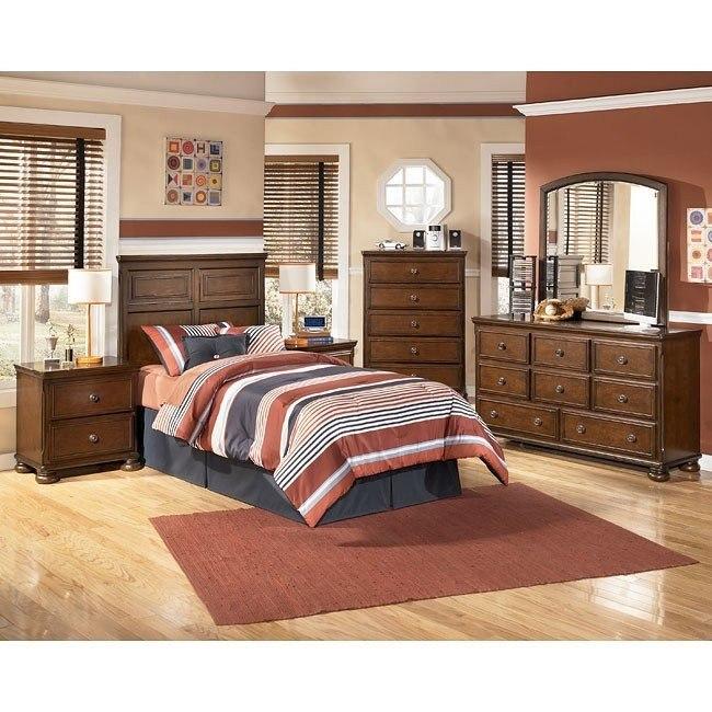 Portsquire Headboard Bedroom Set