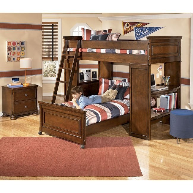 Portsquire Loft Bed Bedroom Set