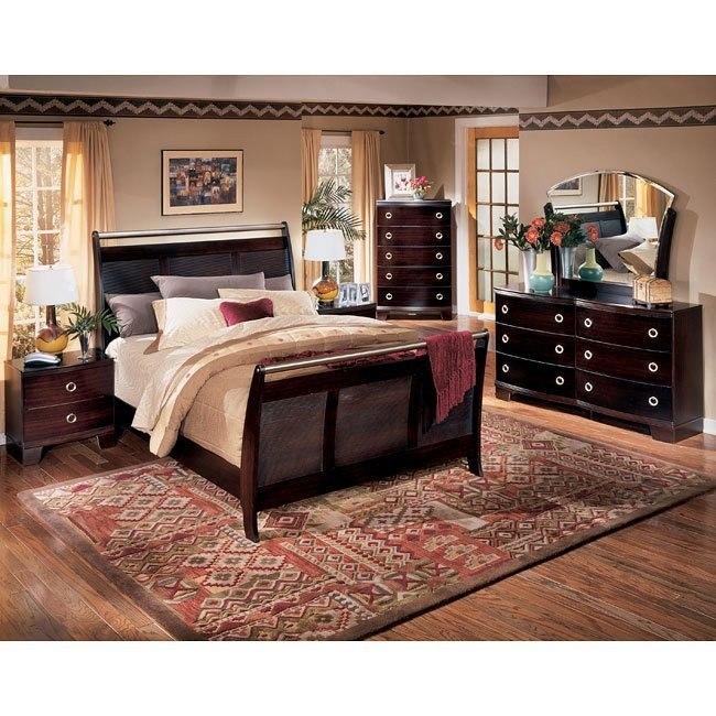 Pinella Sleigh Bedroom Set