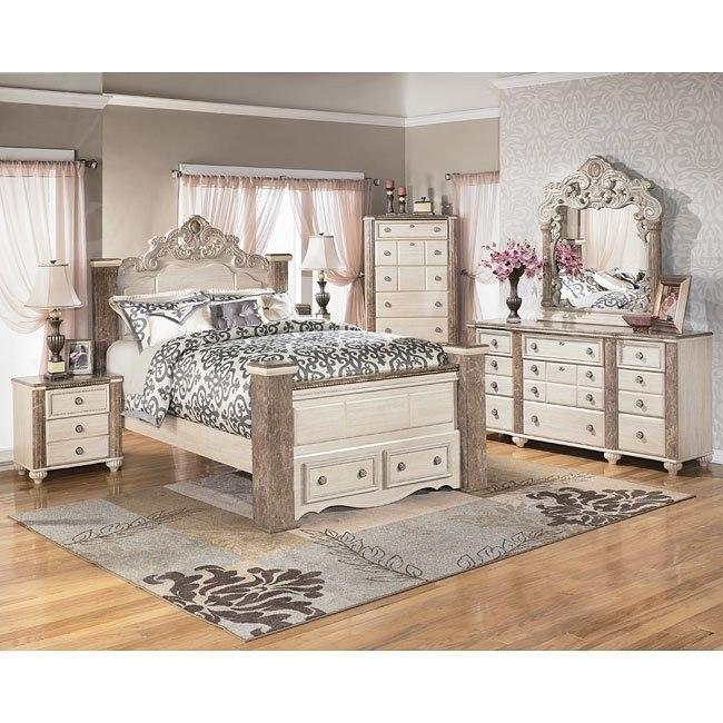 Charlinda Poster Storage Bedroom Set