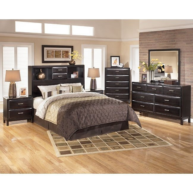 outlet store 5fca9 16e1d Kira Bookcase Headboard Bedroom Set