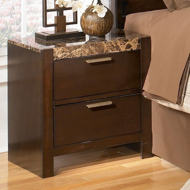 Nowata Two Drawer Night Stand