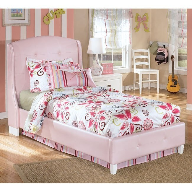 Alyn Pink Upholstered Bed
