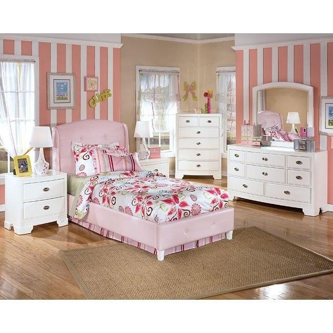Alyn Pink Bed Bedroom Set
