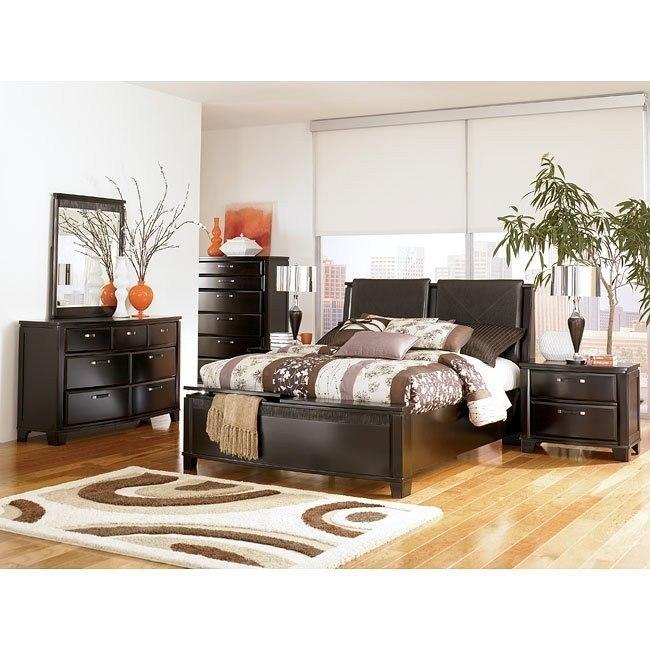 Emory Black Upholstered Storage Bedroom Set