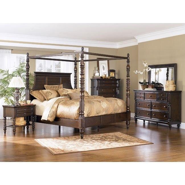 Key Town Canopy Bedroom Set