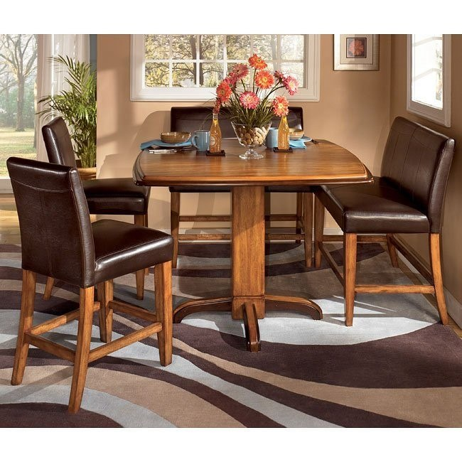 Urbandale Counter Height Dinette with Double Stools